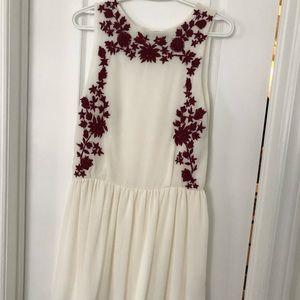 Zara embroidered dresss